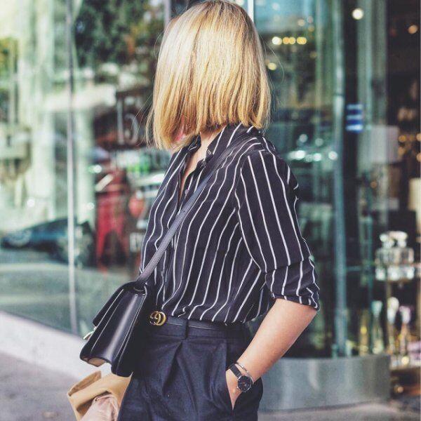 NWT Equipment Essential Stripe Silk Shirt Blouse schwarz Weiß Größe XS, S, M