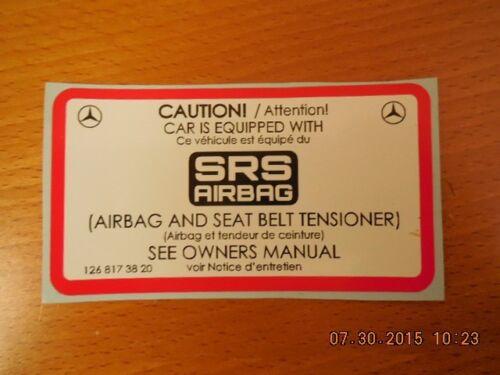 Mercedes Benz sticker label w107 w126 560  engine bay full set 1988