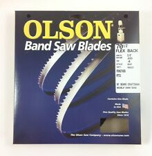 """Olson Band Saw Blade 70-1/2"""" x 3/8"""", 4TPI for 10"""" Craftsman 21400 & others, USA"""