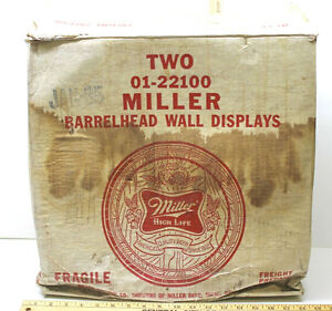 2 Miller High Life Barrelhead Wall Displays 18 Quot Dia