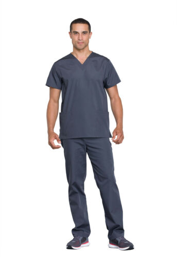 Cherokee Workwear Unisex Top and Pant Set WW530C PWTW Pewter Free Shipping
