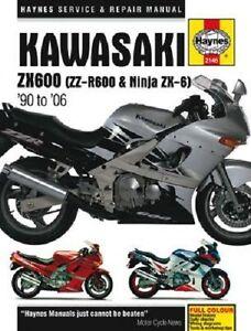 haynes service repair manual kawasaki ninja zx600 d 90 93 e 93 02 rh ebay ie 1993 Suzuki 600 Motorcycle 1993 Suzuki 600 Motorcycle