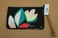 Fossil Sl6623992 Black Floral Printed Wrist Pouch Dark Floral $45