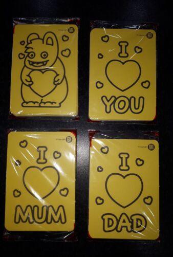 """Niños Abeja feliz arte con arena A6 /""""te amo/"""" Paquete de imágenes"""