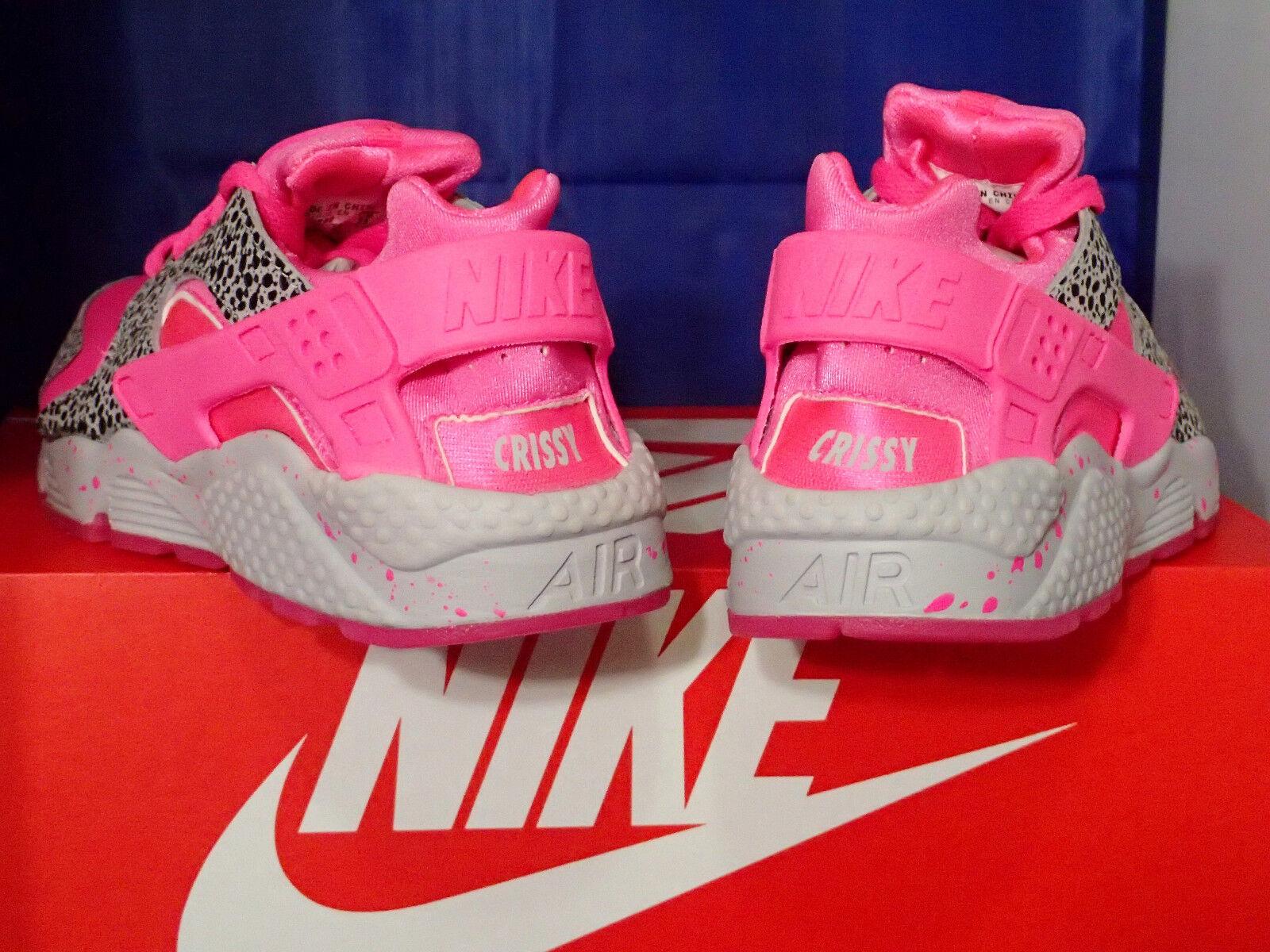 Damen Nike Luft Huarache Run Identifikation Safari Grau Pink Pow Cool Grau Safari Sz 6 5227e4