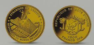 Die Pyramiden von Giseh - 1500 Francs Cfa 2006 PP .917 Gold PP