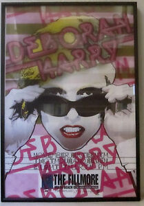 Deborah-Harry-Blondie-FILLMORE-MIAMI-11-16-07-Framed-Concert-Poster-NM