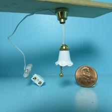 Dollhouse Miniature 12v Electric Farmhouse Ceiling Light Flush Mount MH1070