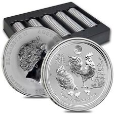 2017 Perth Mint Lunar Series Rooster 1 oz Silver Coin  Lion Privy from mint roll