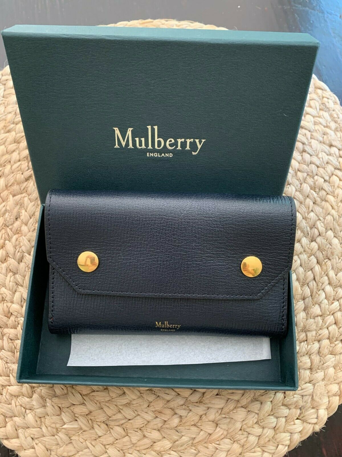 Mulberry Wallet and Checkbook Holder