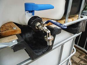 ibc container auslaufhahn regenwassertank adapter 1000l ibc wassertank anschluss ebay. Black Bedroom Furniture Sets. Home Design Ideas