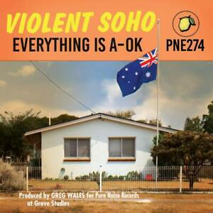 Violent-Soho-Everything-Is-A-OK-Clear-Blue-Red-splatter-VINILE-LP-NUOVO-OVP