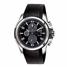 Citizen Eco-Drive Men's CA0420-07E AR Chronograph Black Poly Stap 44.5mm Watch