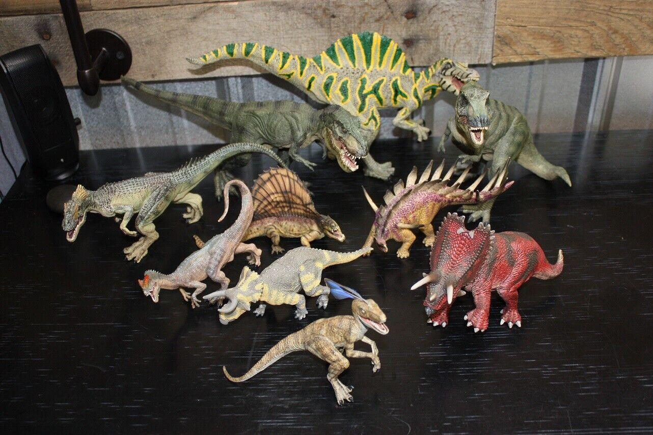 12 Dinosaurs Set - Papo, Schleich and Wild Safari