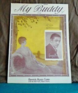 Vintage Sheet Music My Buddy By Gus Kahn Walter Donaldson C 1922 Ebay