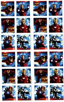 4 Sheets Iron Man 2 Scrapbook Stickers Avengers