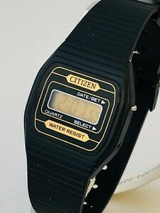 Watches, Parts & Accessories Citizen Slim P230 Time Watch Orologio Digitale Uhr Very Vintage Nos Ct834 Fr Preventing Hairs From Graying And Helpful To Retain Complexion