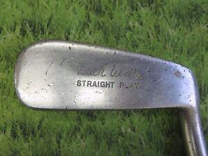 Spalding-BUCK-WHITE-STRAIGHT-PLAY-34-034-Putter-Vintage-6602