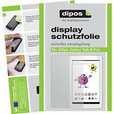 2x dipos Odys Junior Tab 8 Pro matte Displayschutzfolie Antireflex Testsieger
