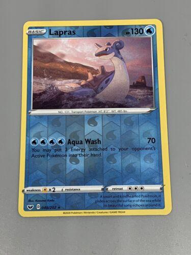 Lapras Pokemon Sword And Shield TCG 048//202 Rare Reverse Holo