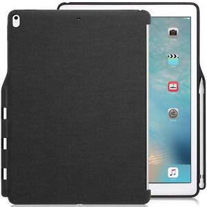 Funda iPad Pro 12.9 2017 Khomo carcasa trasera con porta Lápiz tablet gris