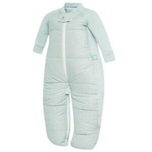 ErgoPouch Baby Sleep Suit Bag Swaddle 2-4yrs/3.5 TOG/Organic Cotton Mint Leaves