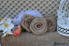 10 x RUSTIC FLOWER ROSE WEDDING DECORATION BURLAP HESSIAN JUTE VINTAGE DECOR