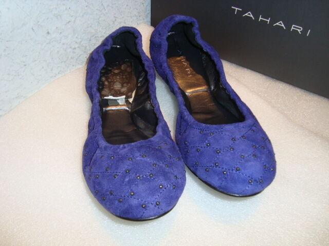 Tahari Damenschuhe NWB Vincent Inheart Purple Flats Schuhes 6.5 MED NEU