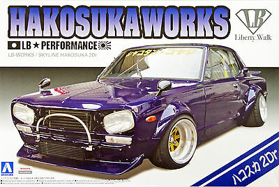 Aoshima 11492 LB-Works Nissan Skyline Hakosuka Works 2Dr 1/24 scale kit KLH