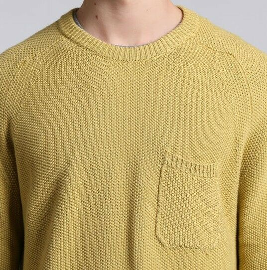 Woolrich maglia Uomo WOMAG1768 Soft Heavy Cotton Sweater colore oroen Spice