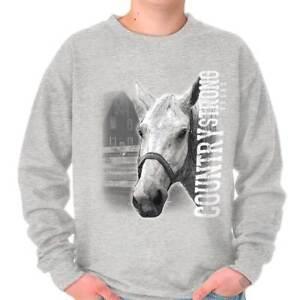 Country Strong Cute Horse Shirt Cowgirl Gift Idea Crewneck Sweatshirt