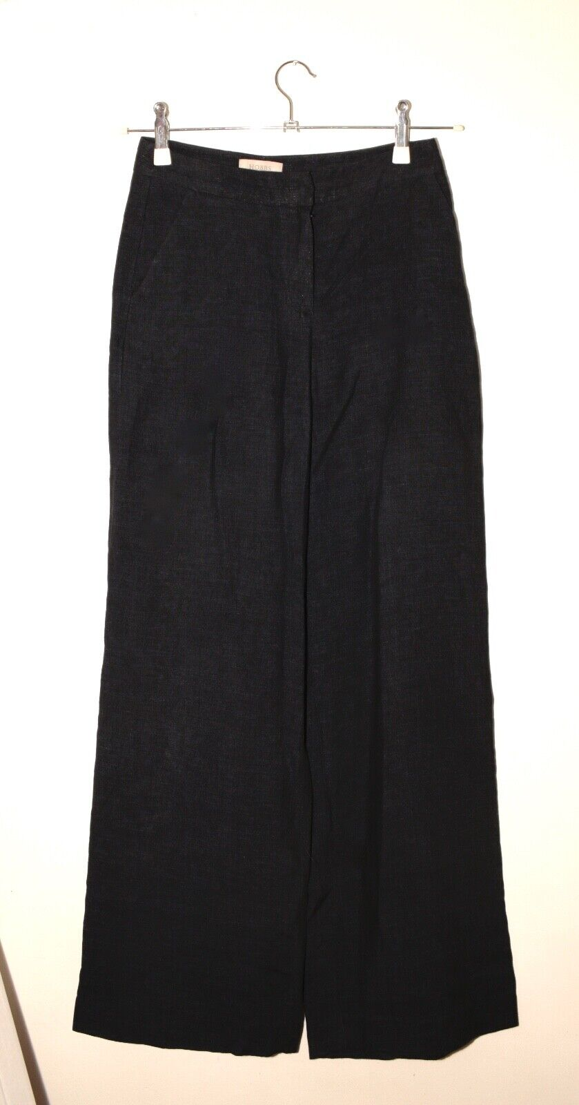 Hobbs navy linen wide leg trousers Größe UK8 EU36