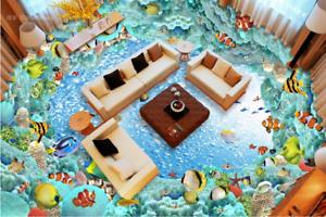 3D Fisch Ozean 516 Fototapeten Wandbild Fototapete Tapete Familie DE Lemon