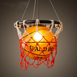 Vintage Basketball Pendant Light Acrylic Ceiling Lamp Retro ...