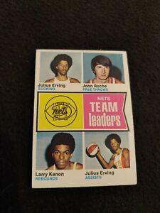 1974 Topps Nets team leaders basketball card Julius Erving Larry Kenon #226 EX+