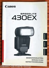 Blitzgerät Bedienungsanleitung CANON SPEEDLITE 430 EX BLITZ User Manual (X2844