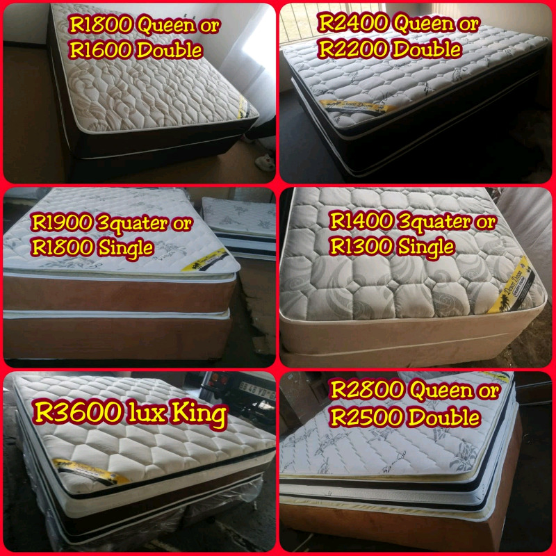 Bamboo Pillowtop queen beds on special