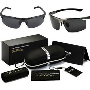 Herren Sonnenbrille Polarisiert Aviator metal Brillen Sport UV 400 Pilotenbrille 2iVOKVaB