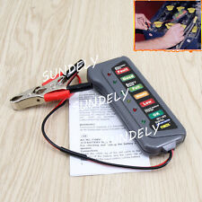 12V 6LED Display Check Digital Battery Alternator Tester Test For Car Motorbike