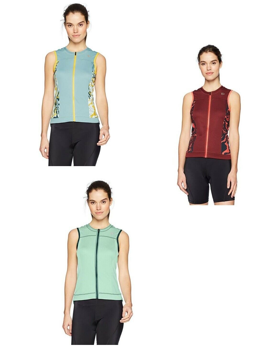 Pearl iZUMi  Womens Elite Escape Sleeveless Jersey Mist Green Port Arctic Phylite  latest styles