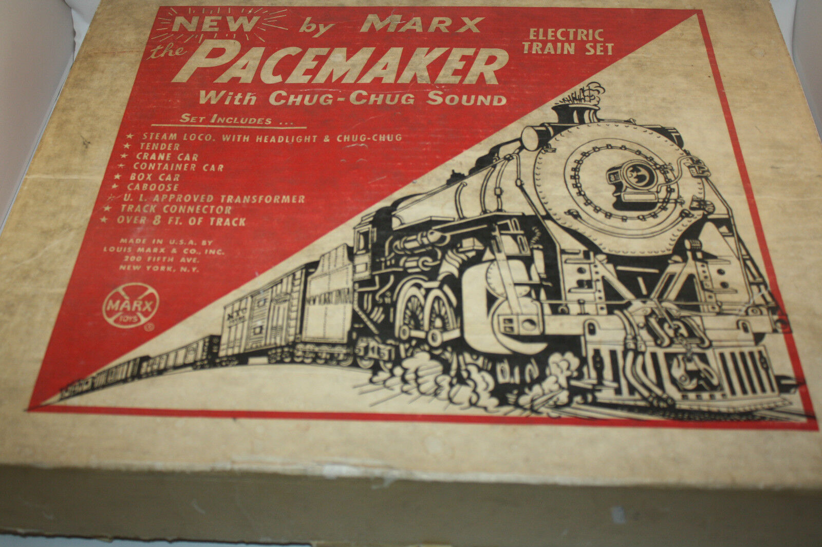 MARX THE PACEMAKER ELECTRIC TRAIN SET  1 W BOX N M CONDITION