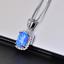 Damen-Halskette-echt-Silber-925-Opal-Stein-Kette-Silber-mt-Anhaenger-Geschenk-Neu Indexbild 11