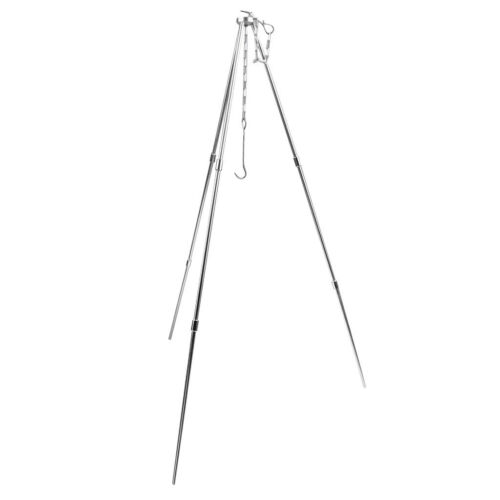 Outdoor Picnic BBQ Cooking Tripod Camping Tripod Pot Hanger with Water Pot