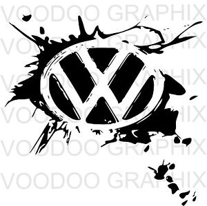 Volkswagen Vw Extra Large 17 Quot Logo Decal Stickers X2