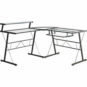 Computer-Desk-Black-Metal-Corner-With-Tempered-Glass