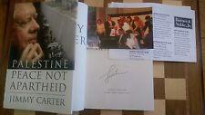 Palestine Peace Not Apartheid SIGNED Jimmy Carter 1st/1st U.S Photo+Flyer Proof