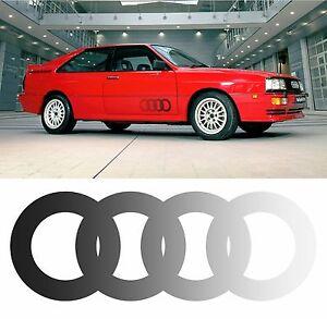 X2 Audi Ur Quattro Tür Ring Aufkleber Beschichtet mit Schwarzem Gepunktete
