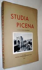 Marche STUDIA PICENA volume 35° FANO 1967