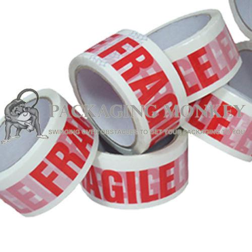 """72 x Rotoli di fragile STAMPATO 2 /""""imballaggio nastro della particella"""