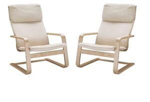 2 x ikea sedia a dondolo pello comodo poltrona sedia cantilever nuovo ebay - Sedia cantilever ...